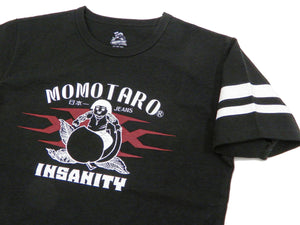 Momotaro Jeans T-shirt Men's Short Sleeve Tee Collaboration xXx Triple X 03xxx Black