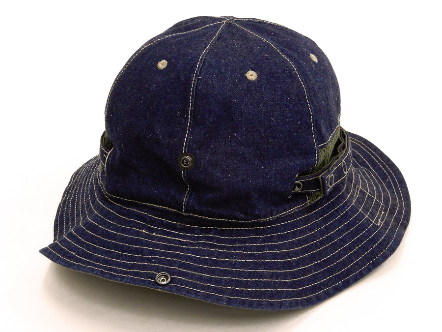 Pherrow's Boonie Hat Men's US Military Style Booney Sun Hat Pherrows 20S-PMSH1 Denim x Olive
