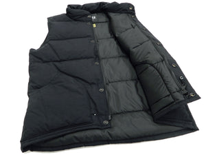 ZANTER JAPAN Down Vest Men's Casual Fashion Quilted Winter Outerwear Vest 6712 Black