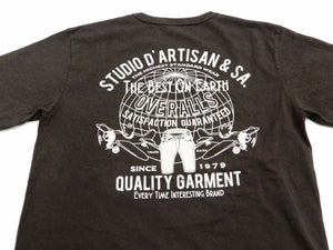 Studio D'artisan T-shirt Men's Short Sleeve Printed Graphic Tee 8029B Black