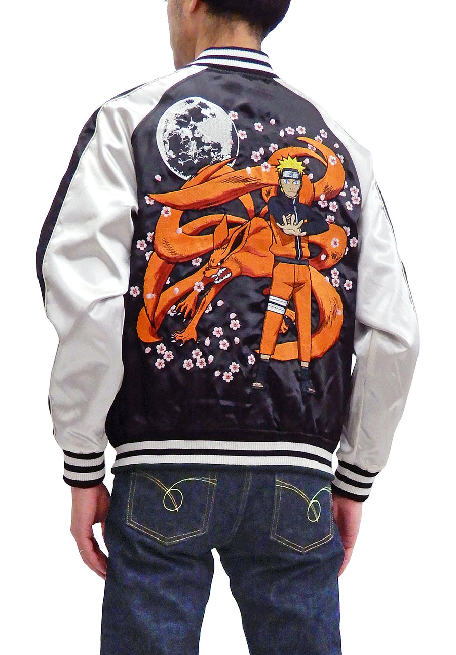 Naruto Sukajan Jacket Men's Naruto Shippuden Japanese Souvenir Jacket 9001822 Black/Off