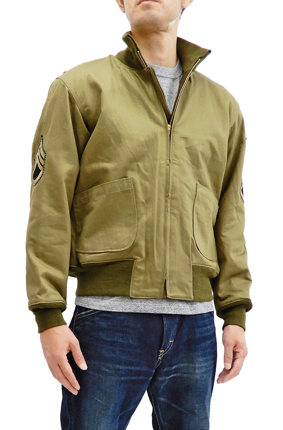 Buzz Rickson Men's Tank Jacket US Army Tanker Jacket Fury Brad Pitt Edition Tank Jacket BR13113