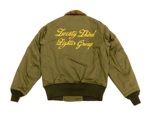 Buzz Rickson Jacket Men's Painted USAAF B-10 Flight Jacket Flying Tigers BR14189 Olive