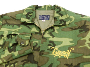 Buzz Rickson Jacket Men's Cotton Vietnam Tour Camo Jacket with Embroidered Skull BR14346