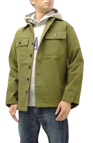 Buzz Rickson Men's Jacket US Army M-47 Combat Uniform OD7 Fatigue Jacket BR14415