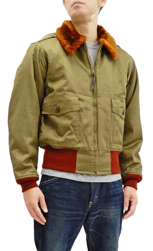 Buzz Rickson Men's USAAF B-10 Flight Jacket Superior Togs Bomber B10 BR14502 Olive Drab