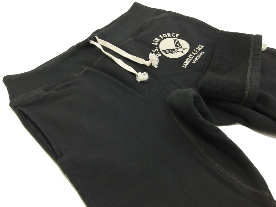 Buzz Rickson Sweatpants Men's Military Sweatpants BR40973 U.S. Air Force Black