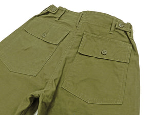 Buzz Rickson Men's Military Shorts inspired by U.S. Army OG-107 Trousers BR51735 Olive
