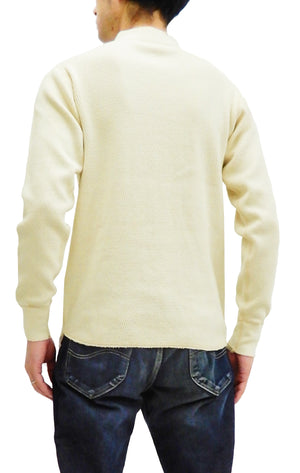 Buzz Rickson Thermal Henley T-Shirt Men's Plain Waffle Long Sleeve Tee BR68130 Natural