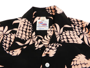 Duke Kahanamoku Men's Hawaiian Shirt Pineapple Short Sleeve Aloha shirt DK36201 Black