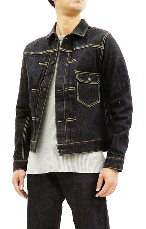 Studio D'artisan Denim Jacket Men's Foxfibre Denim Jean Jacket FOX-003