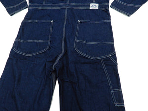 Lee Union-All LM7213 Men's Denim Coverall Long Sleeve Unlined Coveralls LM7213-100 Deep-blue indigo denim