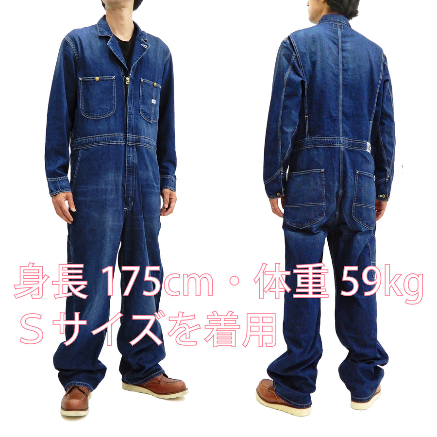 Lee Union-All LM7213 Men's Denim Coverall Long Sleeve Unlined Coveralls LM7213-136 Fade-Denim