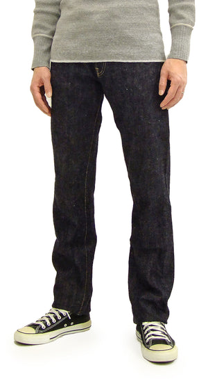 Oni Denim Jenas ONI-575NIXX Men's Slim Tapered Fit One-Washed 15.5 oz. Japanese Natural Indigo Slub Denim