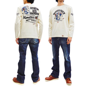 B-R-M T-Shirt Men's Ukiyo-e Cats Japanese Art Graphic Long Sleeve Tee Bakuretsu-Ranman-Musme RMLT-303 Off