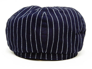 Sugar Cane Applejack Cap Men's Short Brim Wabash Striped Work Hat SC02070