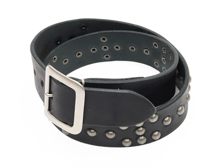 Sugar Cane Studded Leather Belt SC02321 Men's Ccasual from Japan Black