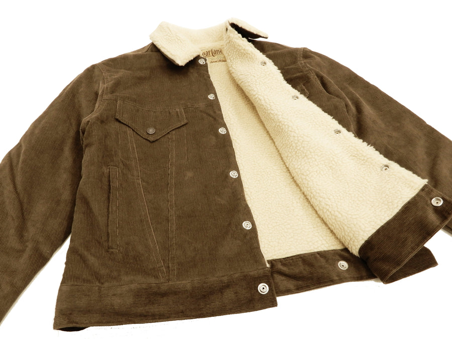 Sugar Cane Men's Corduroy Sherpa Jacket Western Rancher Short Jacket SC13940 Brown