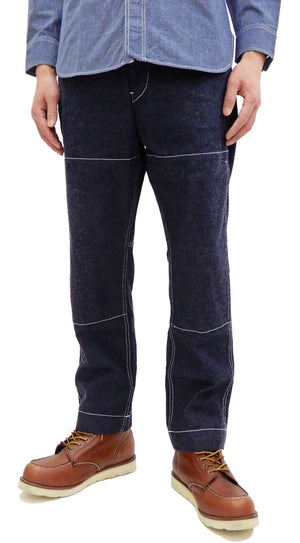 Sugar Cane Jeans with Double Knees & Seat Men's One-Washed 11 Oz. Denim SC41926A