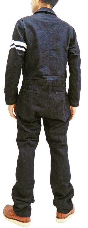Momotaro Jeans Men's Denim Coverall Slim Fit Jumpsuit Long Sleeve Coveralls SJ3114