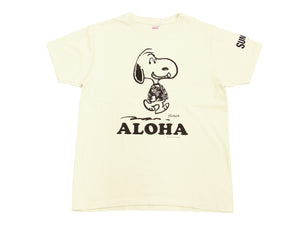 Sun Surf T-shirt Men's Loopwheeled PEANUTS Snoopy Short Sleeve Tee SS77973 Off