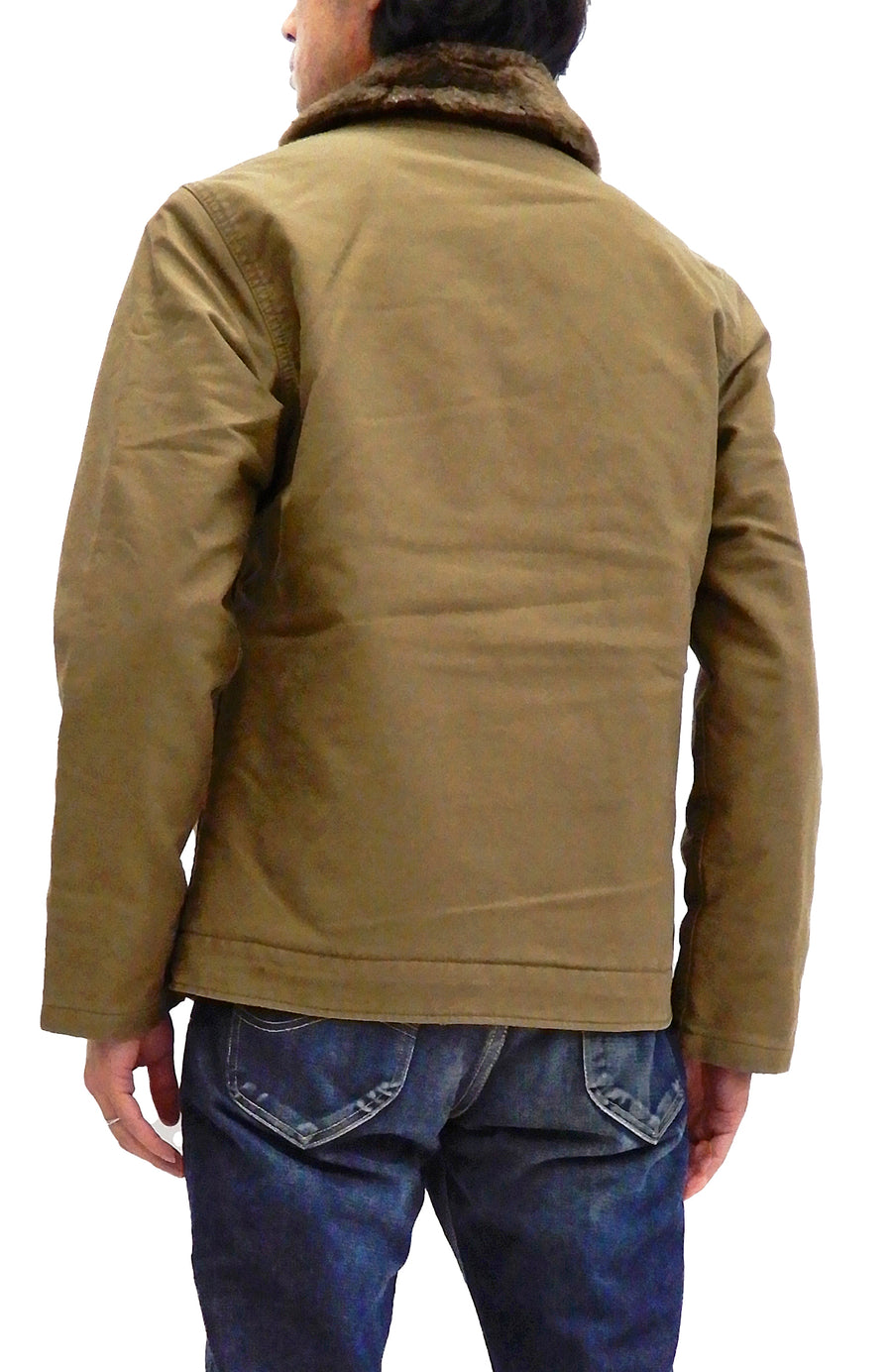 Alpha Industries N-1 Deck Jacket Men's US Navy WWII N1 Modify Version TA1395 Khaki