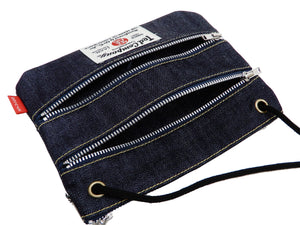 Tedman Tiny Sacoche Bag Men's Casual Simple Mini Small Crossbody Bag TDBG-1200SCH Indigo x White