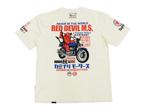 Tedman x Kaminari T-Shirt Men's Japanese Classic Bike Short Sleeve Tee TDKMT-16 Off-Color