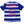 Load image into Gallery viewer, Tedman Quick Dry T-shirt Men's Lucky Devil Striped Short Sleeve Tee TDRYT-500 White/Navy-Blue