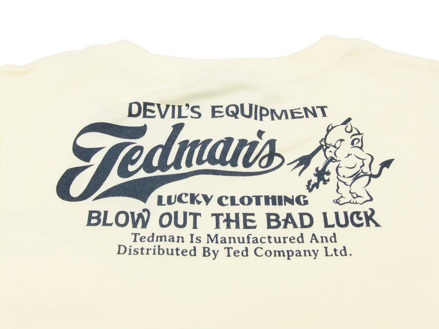 Tedman 3 Pocket T-Shirt Men's Short Sleeve Graphic Tee TDSS-470 Off/Navy-Blue