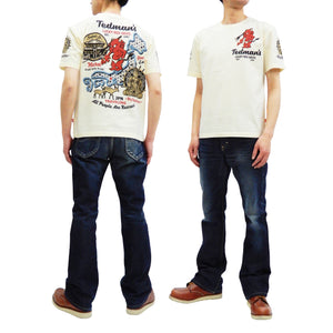 Tedman Men's Short Sleeve T-Shirt Great Buddha of Nara Graphic Tee TDSS-496 Off-Color