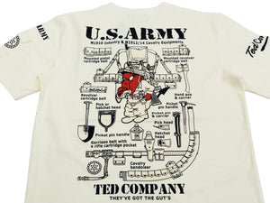 Tedman T-Shirt Men's Lucky devil ARMY Military Graphic Short Sleeve Tee TDSS-514 Off-Color
