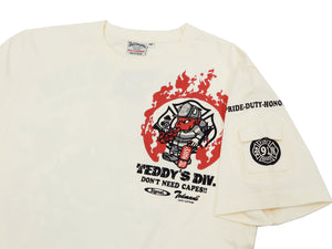 Tedman T-Shirt Men's Lucky Devil Firefighter Graphic Short Sleeve Tee TDSS-516 Off-Color
