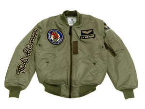 Tedman MA-1 Flight Jacket Men's Custom MA1 Bomber with Patches Printed TMA-550 Gray