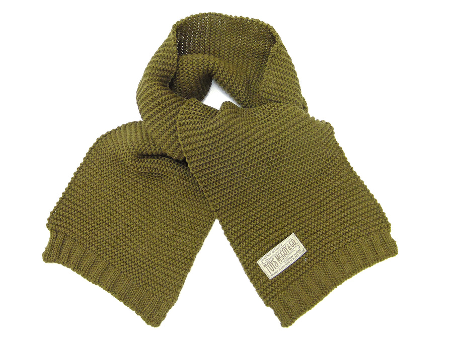 TOYS McCOY Men's Scarf the American Red Cross Wool Knit Muffler Style TMA1634 Olive