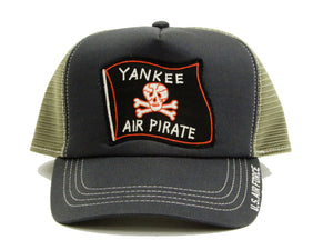 TOYS McCOY Men's Mesh Cap Yankee Air Pirate Patched Mesh Side Hat TMA1824 Charcoal