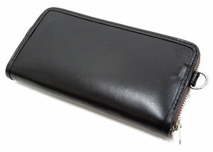 TOYS McCOY Leather Long Wallet Men's Casual Felix the Cat Military Style TMA2009 Black
