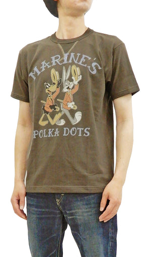 TOYS McCOY T-shirt Men's Short Sleeve Looney Tunes Loop-wheeled Tee TMC1911 Faded-Dark-Charcoal