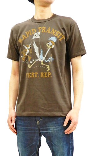 TOYS McCOY Men's Short Sleeve T-shirt Wile E. Coyote Road Runner Tee TMC1924 Faded-Dark-Charcoal