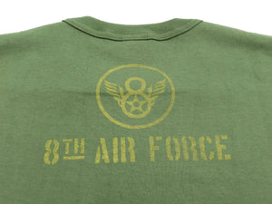 TOYS McCOY T-shirt Men's Short Sleeve B-17 Military Loop-wheeled Tee TMC1941 Faded-Green