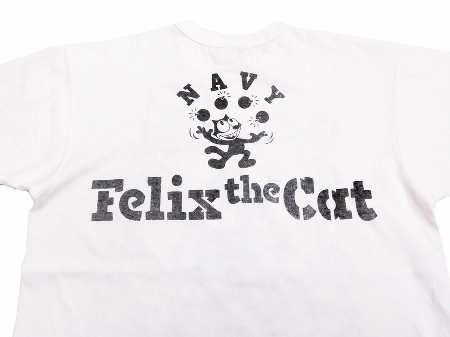 TOYS McCOY T-shirt Men's Felix the Cat Short Sleeve Loop-wheeled Tee TMC2003 Off-White