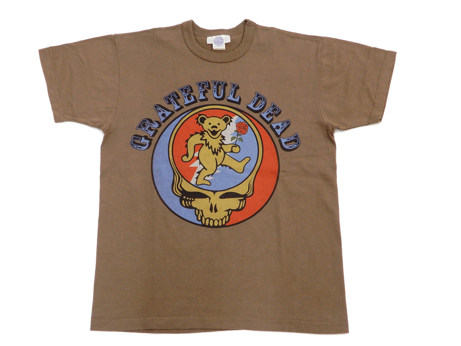 TOYS McCOY T-Shirt Men's Grateful Dead Short Sleeve Loopwheeled Tee TMC2119 Coyote-Brown