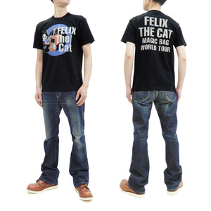 TOYS McCOY T-shirt Men's Felix the Cat Short Sleeve Loopwheeled Tee TMC2122 Black
