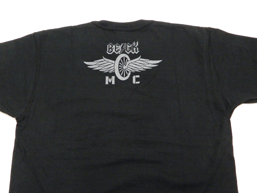 TOYS McCOY T-shirt Men's Beck Logo Graphic Short Sleeve Loopwheeled Tee TMC2129 Black