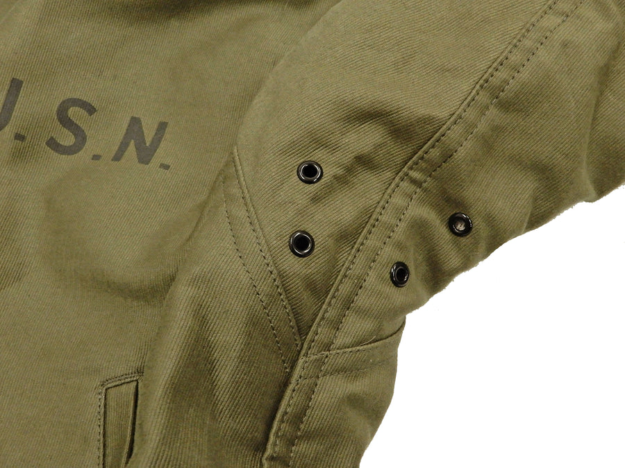 TOYS McCOY Jacket Men's Reproduction USN N-1 Deck Jacket N1 Coat TMJ1926 Olive