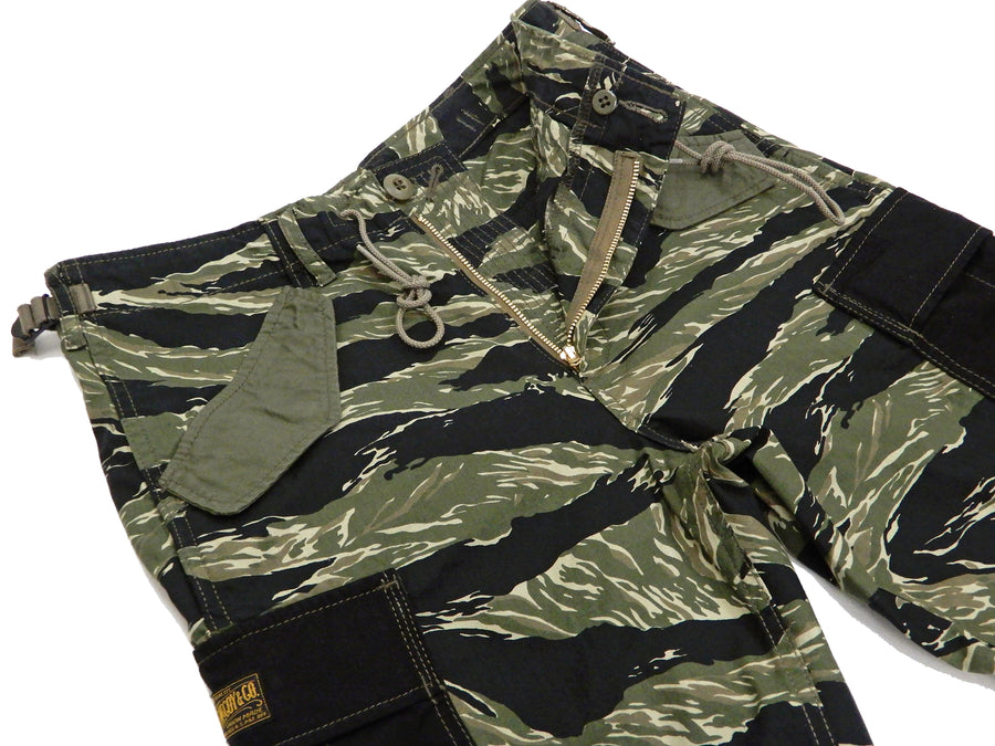 TOYS McCOY Men's Military Cargo Shorts Tiger Stripe Camouflage Pattern TMP1902