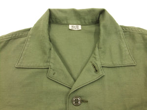 TOYS McCOY Plain Long Sleeve Shirt Men's Soid OG-107 Utility Shirt TMS1709 Olive