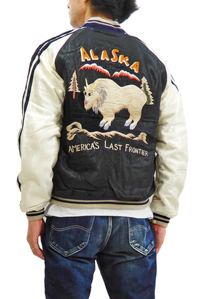 Tailor Toyo Sukajan Jacket Men's Embroidered Japanese Souvenir Jacket Toyo Enterprises TT14651 Alaska mountain goat x Eagle