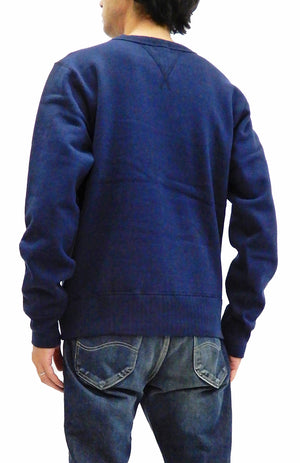 Whitesville Plain Sweatshirt Men's Loop-wheeled V-Insert Vintage Style WV67728 Navy-Blue