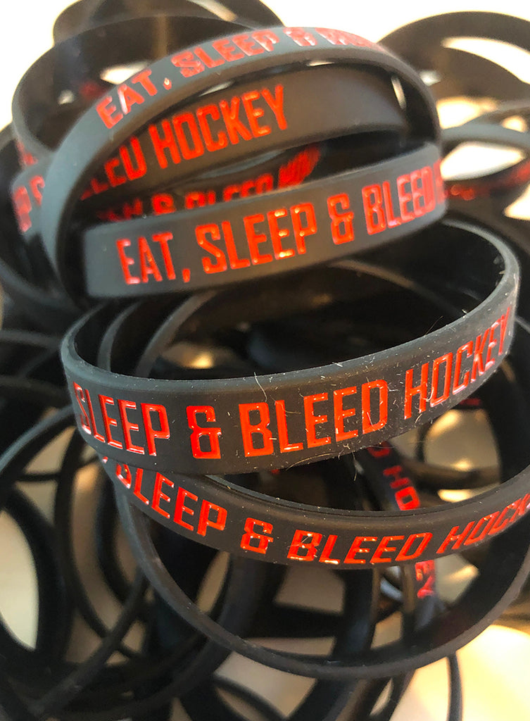 Bleed Hockey Wristbands